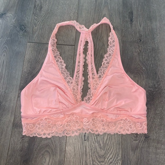 06270acf1b5a32 aerie Other - Aerie Lace Silk Bralette- baby pink